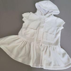 Koala kids white hooded towel dress sz 18-24mo